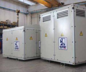 Bilde av kapsling for epoxy isolerte transformatorer IP 54 produsert av GBE italia