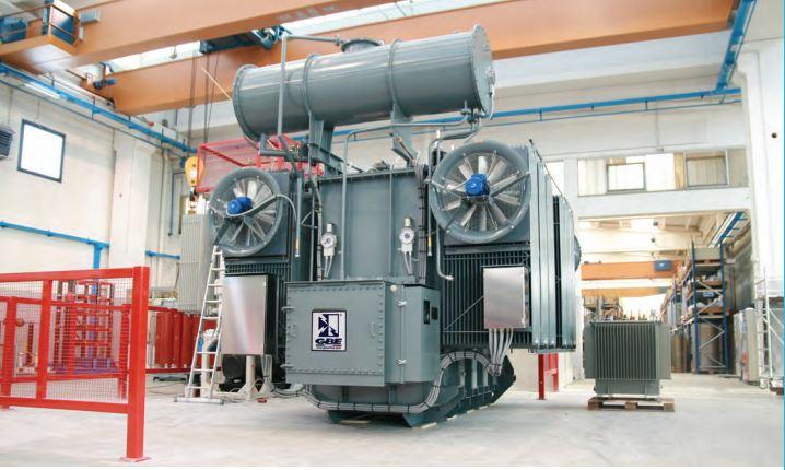 Bilde av kraft transformator produsert av GBE italia